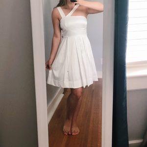 White Sundress with Asymmetrical Straps